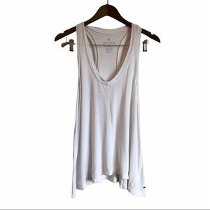 *2/$15* AMERICAN EAGLE Soft & Sexy Relaxed Flowy Tank Top Shirt White